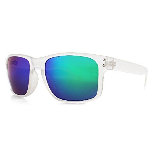 DISTRESSED Superior Sonnenbrille viele Farben klar blau/grŸn verspiegelt