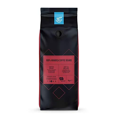 Amazon-Marke: Happy Belly  Röstkaffee, ganze Bohnen 100% Arabica  2 kg (2 x 1 kg)