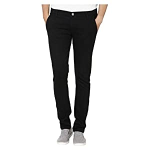 Urbano Fashion Men's Black Slim Fit Denim Jeans Stretchable