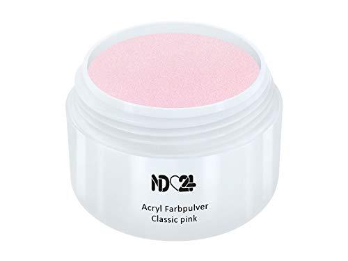 Acryl Farbpulver Classic pink ROSA - nd24 BESTSELLER - Feinstes FARB Acryl-Puder Acryl-Pulver Acryl-Powder - STUDIO QUALITÄT - Rosa Acryl Pulver