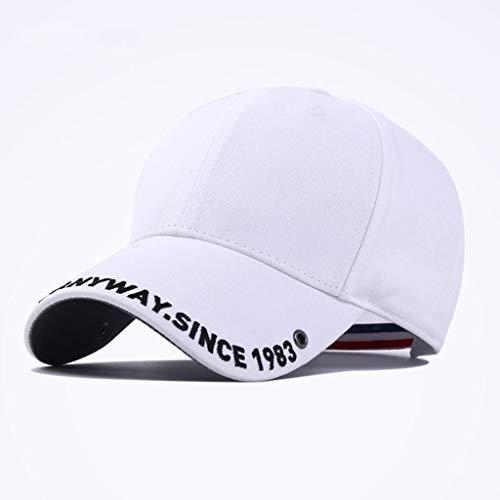 Dyong Sonnenhut Sonnenbrillen-Sonnenblende-Schirmmütze des Weiblichen Weiblichen Frühling Und Sommervisier-Baseballmütze Männliche Im Freien Koreanische Beiläufige Kappe (Color : White)