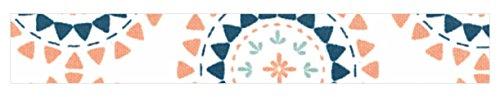 Unbekannt Toga dailylike lkt85Rolle Gewebe Klebeband Milchstraße Baumwolle, Baumwolle, blau/orange, 6,5 x 6,5 x 1,5 cm -