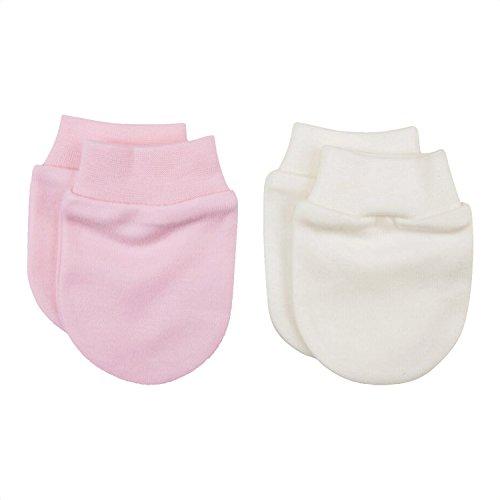Sevira Kids - Moufles naissance en coton biologique- lot de 2 paires -  gants anti c9b21f98649