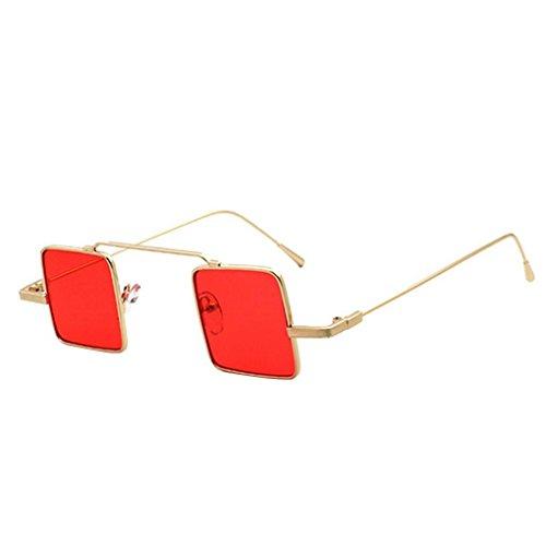 Junecat Unisex quadratische Sonnenbrille Männer-Frauen-Mädchen-Harz-Objektiv Eyewear UV400 Schutz Metallrahmen Outdoor-Brillen