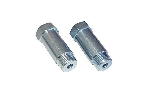 CNT universale Fit Oxygen O2 Sensor Spacer Adapter Extenders (2x) Straight CEL Fix kit per sistemi di scarico con fori M18 x 1,5 sensore