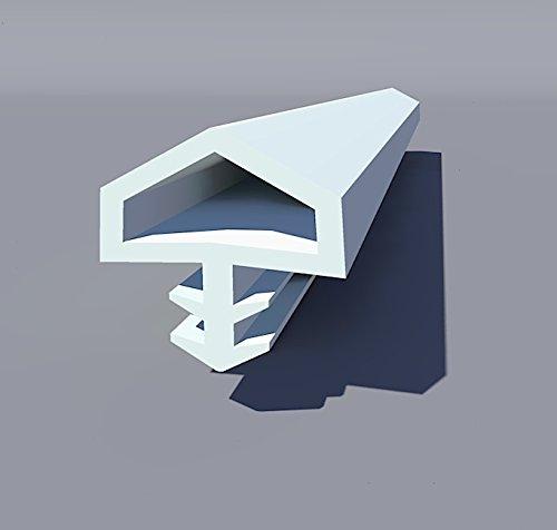 Gummidichtung Dichtungen aus Gummi Tür Fenster Profildichtung Universal Dichtband Holzzargendichtung Flügelfalzdichtung Dichtungsprofil 30 Meter weiß