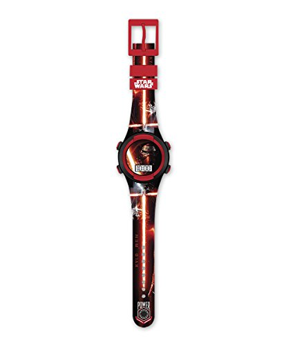 "Reloj de pulsera digital LCD Star Wars: Episodio VII - The Force Awakens/ El Despertar de la Fuerza ""Kylo Ren"""