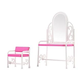 Fuuny Kreatives Design Baby Mädchen Spielzeug Schminktisch & Stuhl Zubehör Set Für Barbies Puppen Schlafzimmer Möbel