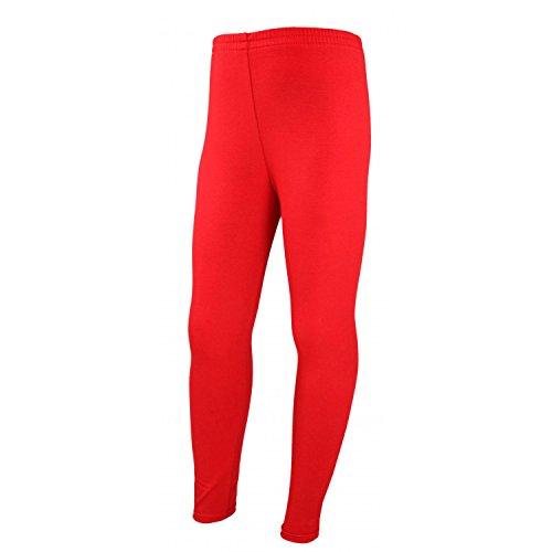 TupTam Mädchen Leggings Lange Leggins Blickdicht Baumwolle , Farbe: Rot, Größe: 134