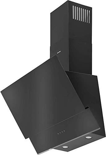 Simfer SMF-CH 5659 Dunstabzugshaube Schwarz Glas | 60 cm | Wandhaube | Kaminhaube | Schräghaube | Touch-Control | Digitaler Timer | Alu-Filter | LED | Teleskopkamin | 500 m³ /h Abluftleistung