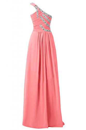 Sunvary splendida Custodia Strap asimmetrici Spazzola per abiti da sera elegante Watermelon
