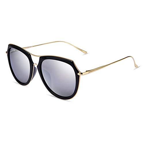 Wghz Brille Damen Sonnenbrille New Damen runde Gesicht Big Frame Sonnenbrille Damen polarisator Fahren Sonnenbrille