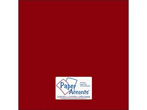 Accent Design Papier Akzente adp1212-25.10053Nr. 6530,5x 30,5cm Crimson Stash Baumeister Karte Lager -