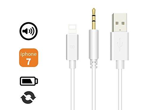 Ideal Dream IOS 10 Lightning 8pin auf USB und AUX 3.5mm Audio Daten Sync Ladegerät Kabel Adapter für Im Auto Audiosystem und externen Lautsprecher Apple iPhone 7 7 Plus iPad Mini 2 3 4 Air Air 2 iPod Nano 7th