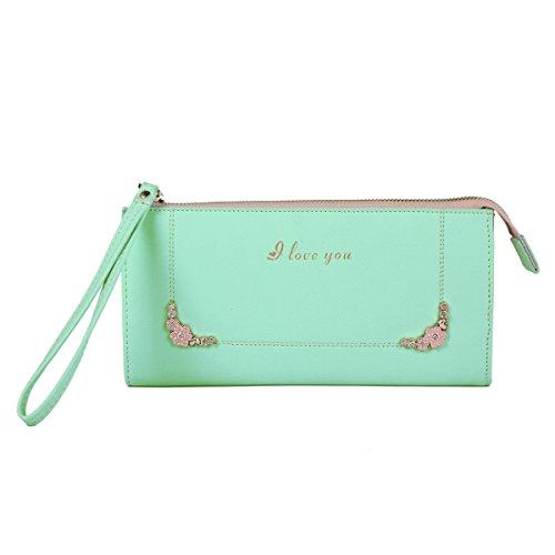 Design carino portafoglio Damara donna con motivo floreale Verde (verde)
