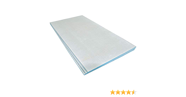 Wetroom Floor and Wall Insulation 1200 x 580 x 20mm + 60 Washers Tile Backer Board 6mm 60 Free Insulation Washers Panel Size 1200 x 580mm 10mm and 20mm- Pack of 10 Boards