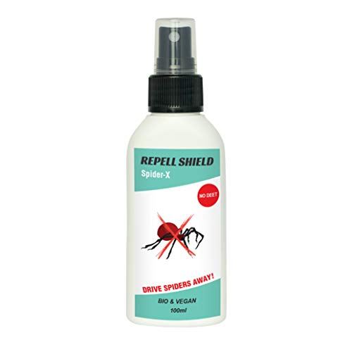 Repellente per Ragni Repell Shield I 100 ml I per Interni ed Esterni I con Oli Essenziali I Alternativa all\'insetticida e alla Trappola per Ragni