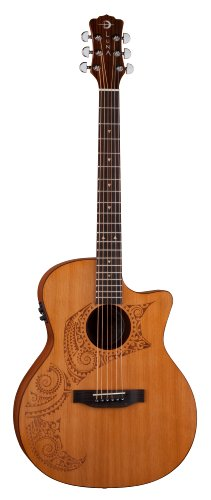 LUNA GUITARS OCL TAT CDR   GUITARRA ELECTROACUSTICA  COLOR MARRON