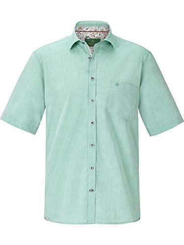 Charles Colby Herren Kurzarm Kurzarmhemd Lachlan (freizeithemd, Frühlings-Hemd) grün L - 41/42
