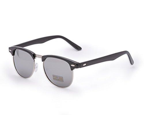Damen Herren Mode Black Sonnenbrille Unisex Spiegel Gespiegeltes Objektiv Brille MFAZ Morefaz Ltd
