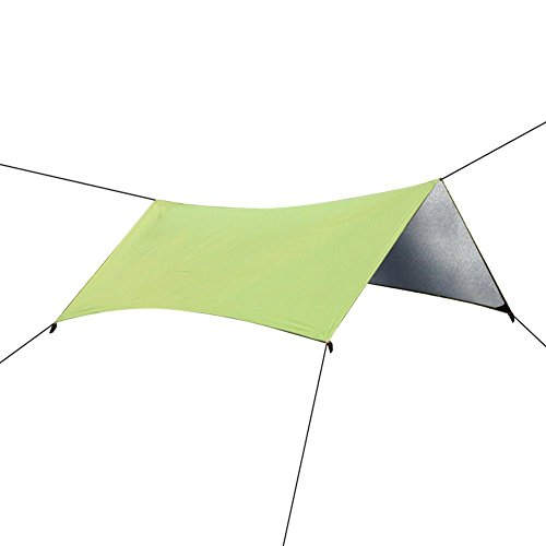 peakattacke portatile per esterni, impermeabile, pieghevole oxford panno tenda Tarp Shelter Parasole per spiaggia, picnic, campeggio, pesca, escursionismo, viaggio, colore: verde/blu, Green, 78*82in/Six