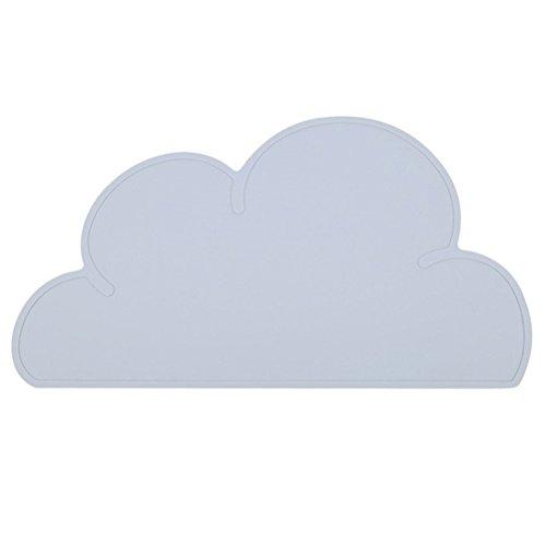 Tovagliette bambini silicone ounona tovaglietta a forma di nuvola antiscivolo e impermeabile in grigio