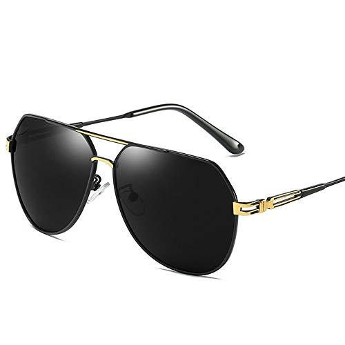 WULE-RYP Polarisierte Sonnenbrille mit UV-Schutz Retro Trend Sonnenbrillen Herren Polarisierte Sonnenbrille mit Etui - UV 400 Schutz 61MM. Superleichtes Rahmen-Fischen, das Golf fährt (Farbe : Gold)