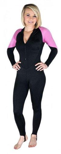 Storm Pink and Black Lycra Scuba Diving Skin - Size Medium