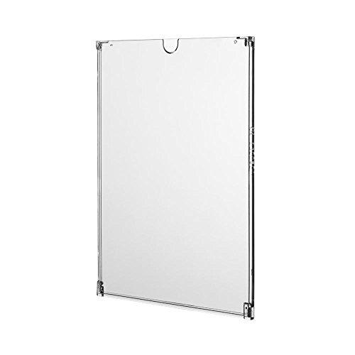 25 x Plakattasche Visto DIN A4 / aufklappbar / inkl. doppelseitiger Klebepunkte / zur Wandmontage / Einschubtasche / für Preisauszeichnungen, Informationen oder Beschilderungen / Ladeneinrichtung