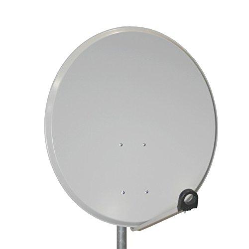 PremiumX Antenne PXS45 Stahl 45cm, Digital Sat Schüssel Spiegel in Hellgrau für Camping/Wohnmobil NEU