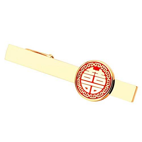 CCJIAC 6 cm Rote Liebe Krawattenklammern Für Herren Krawatte Krawattenklammer Hochwertige Krawattenklammer Hochzeit Verlobungsfeier Geschenk Schmuck