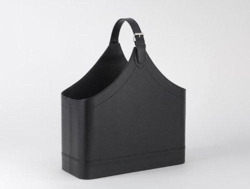 Wadiga Zeitschriftenständer Leder Schwarz Design