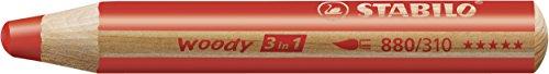 comprare on line STABILO Woody 3 in 1 matitoni colorati + Temperino - Astuccio da 10 prezzo