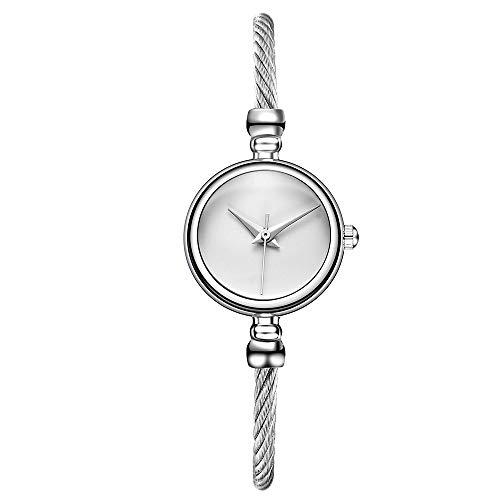 Floweworld Damenmode Armbanduhren Beiläufige Quarz-Edelstahl-Band-Armbanduhr Analoge Armbanduhren - Schwarze Folien Clogs