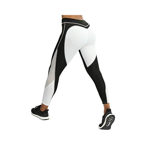 aoliaoyudonggha Black And White Patchwork High Waist Women Leggings Sporting Workout Leggins Pants -