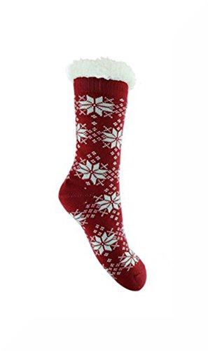 ladies-white-snowflakes-on-red-chunky-thermal-knitted-fluffy-fleece-lined-fairisle-slipper-socks-ins