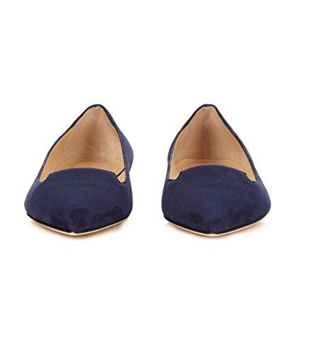 EDEFS - Scarpe Ballerine - Ballerine Donna - Office Scarpe - Tacco a Blocco Blue