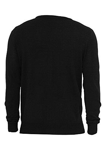 Urban Classics Herren Pullover Knitted Cardigan Black