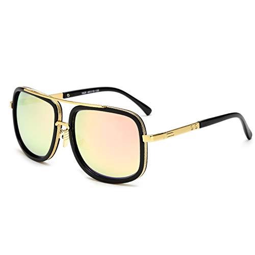 Brillen,Sonnenbrillen,Zubehör,VISION Square Pilot Sunglasses Men Driving NEW Male Luxury Brand Sun Glasses For Men Metal Designer Cool Shades MIRROR Retro JY1828 C5 Pink