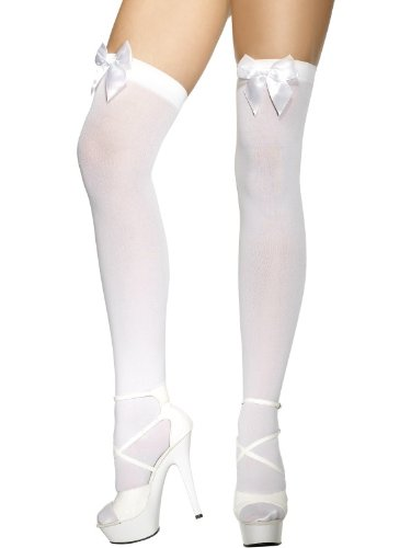 white-with-white-bows-stockings-thigh-high-hold-ups-fancy-dress-costume-accessories