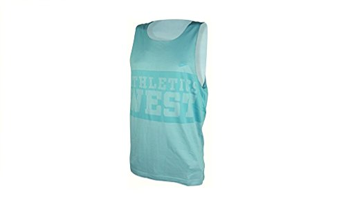 Nike Mens Reversible Dri Fit Athletic West mouwloos Vest Tank Top Blue 2XL (Reversible Nike Jersey)