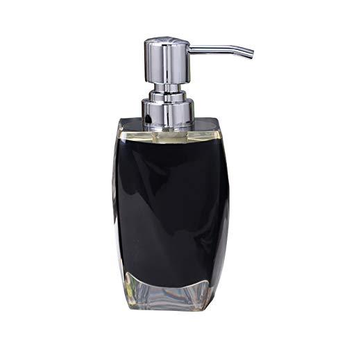 GBNIRE Premium Bad Seifenspender, Lotion-Seifenpumpflaschen, Harz, ideal für Lotionen, Shampoos und Massageöle (Farbe : Schwarz)