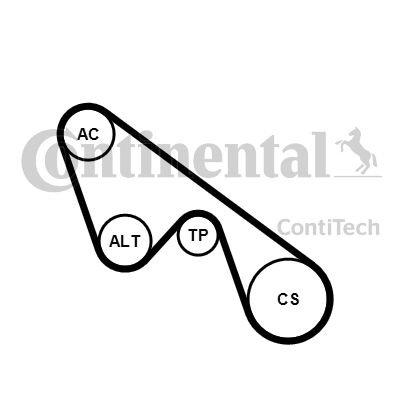 CONT ITech 5pk1150K1cinghia trapezoidale Set