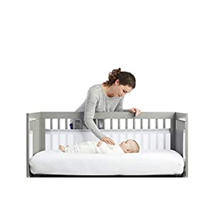 BreathableBaby 2 Sided Cot Mesh Liner (White Mist)   7