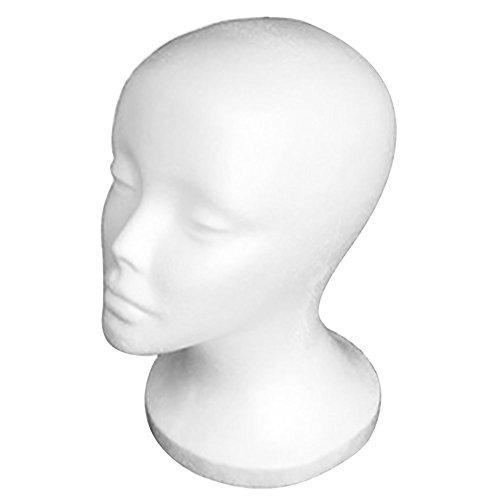 Testa di Manichino Polistirolo di feinile per ParruccheOcchiali cappelliCuffie