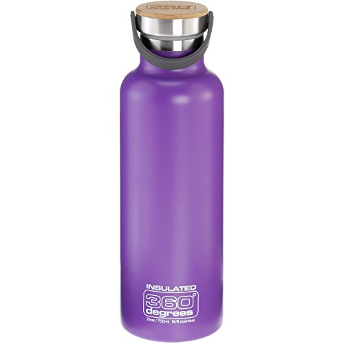 360° degrees Vacuum Insulated Drink Bottle 750ml Purple 2019 Trinkflasche
