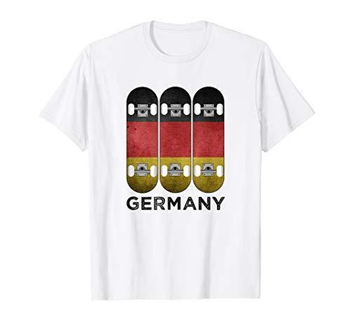 Skater T-Shirt Skateboarden Skateboarder Deutschland Flagge