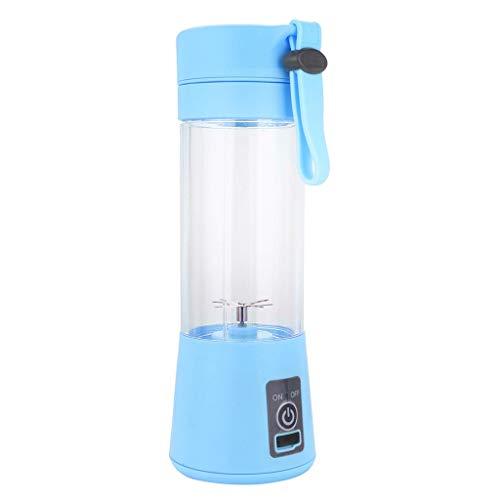 Hengzi 380ml USB Fruchtsaftpresse Handheld Smoothie Maker Saft Tasse (Blau, sechs Klingen)