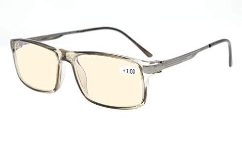 Noline Bifokal Progressive Multifokusbrille- 3 Stufen Sicht qualität TR90 Fassung in Grau+2.00