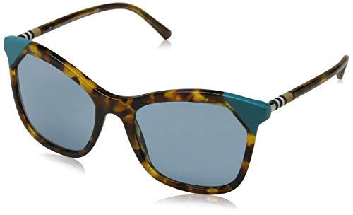 Burberry 0be4263 371080 54 occhiali da sole, marrone (brown havana/azure/blue), donna